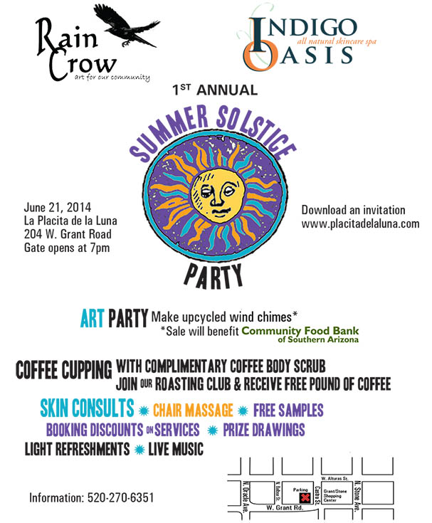 solstice art party and coffee cupping for raincrow gallery and rain crow roasters